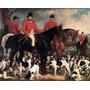 Mestre Cães De Caça Inglaterra Pintor Grant Linda Tela Repro