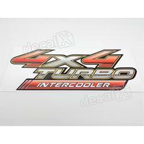 Adesivo 4x4 Turbo Intercooler Hilux - Decalx