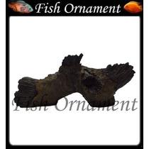 Enfeite De Resina Soma Tronco Duo 41 Fish Ornament