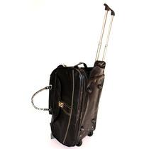 Bolsa De Viagem Com Rodinhas Embutidas Em Couro Sintético
