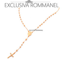 Rommanel Terço Feminino 50cm 531186 - Exclusiva Rommanel
