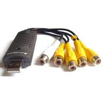 Placa Captura Video 4 Canais Audio Usb Dvr Camera Segurança