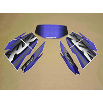 Kit Adesivos Honda Xlr125 2002 Azul - Decalx