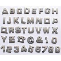 Letras Cromadas E Numeros Cromados De 3 Cm Altura 1un Letra