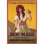 Fruta Passa Seca Sun Maid Alemão Vintage Poster Repro