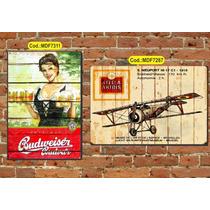 Quadros Decorativos Rústico Cervejas Vintage