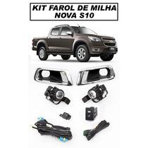 Kit Farol De Milha S10 2012/2013 - Com Botão Tipo Original