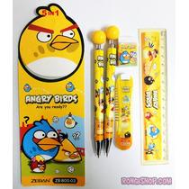 Kit Angry Birds Material Escolar Importado - Pronta Entrega!