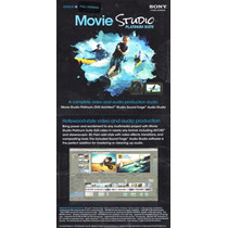Sony Movie Studio Platinum 12 Vegas + Soundforge + Dvd Arch