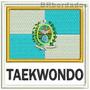 Patch Bordado Bbr041 Taekwondo Bandeira Rio D Janeiro Outras