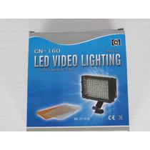 Iluminador De Led Para Filmadora E Dslr 160 Leds + Filtros
