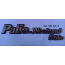 Emblema Palio Weekend Stile Fundo Azul - Mmf Auto Parts