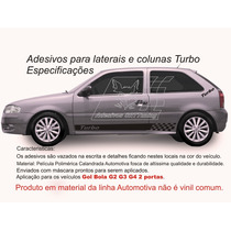 Adesivos Kit Turbo Gol G2 G3 G4 2/p Faixa Lateral Carro 2013