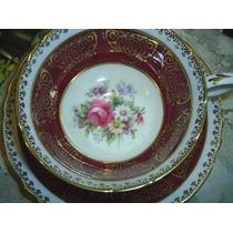 Linda E Antiga Xícara Chá Inglesa Floral Paragon Rubi !!