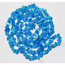 Cascalho Olho De Gato Azul Fio 90cm Teostone Colar Joia 375