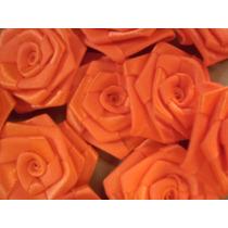 Rosa De Cetim Em Rococó Tamanho 5cm .flor, Laços,lacinho