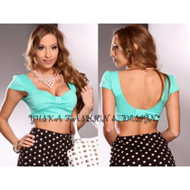 Outlet Yuska, Cropped Top Cut, Apenas 35,00