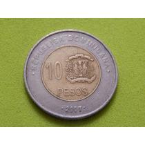 Moeda Da República Dominicana 2007 - 10 Pesos (ref 968)