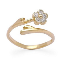 Anel Flor Em Ouro Amarelo 18 Quilates Mais Diamantes.