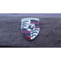 Emblema Porsche Metal Cromado E Resinado