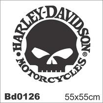 Adesivo Bd0126 Harley-davidson Tanque Moto Decoração Parede
