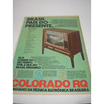 ( L - 290/ G ) Propaganda Antiga Televisor Colorado Rq
