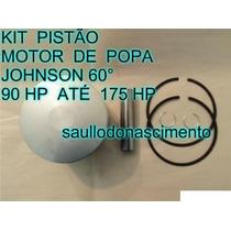 Kit Pistão Motor De Popa Johnson De 90 Até 175 Hp 60º Graus