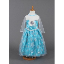 Vestido Fantasia Frozen Elza Importado. Pronta Entrega