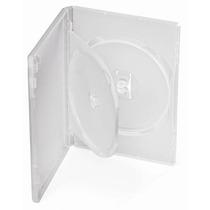 Box Duplo Padrão Dvd Transparente Tradicional 50 Unid