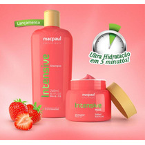 Kit Intensive - Mascara E Shampoo De Morango - Mac Paul