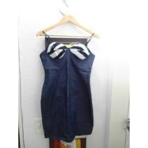 Vestido De Festa Em Jeans, Bojo Estruturado, Estiloso, Tam P