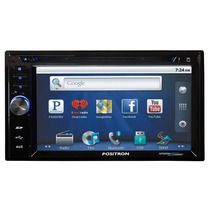 Dvd Player Pósitron Sp8990 Smart C/ Bluetooth Gps E Internet