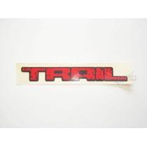 Emblema Adesivo Trail Grande Vermelho Medidas: 41,5x5,2cm
