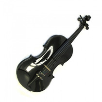 Violino Rolim 4/4 Artesanal Preto Brilho.