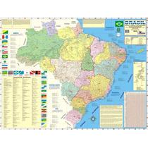 Mapa Do Brasil Político E Rodoviário Gigante 1.20m X 90cm
