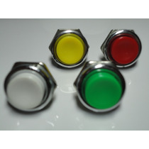 Chave Push Button Pulso Varias Cores