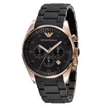 Relógio Empório Armani - Ar5905 Preto E Gold Rose