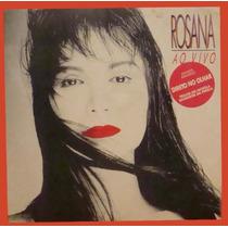 Rosana Lp Rosana Ao Vivo 1988 Encarte