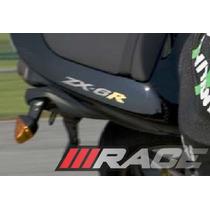Par De Adesivos Zx-6r Para Lateral Rabeta Kawasaki Zx6r 600