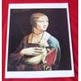 Gravura Dama Com Um Arminho Leonardo Da Vinci 29x43 Pfr10