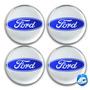 Calotinha Resina Ford Prata P/ Calota Ou Roda C/4 Peças 51mm