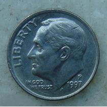 575 - Usa One Dime Liberty 1997, Letra P - Tocha 18mm
