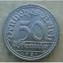 5296 Alemanha - 50 Pfennig 1921 A - , 23 Mm Aluminio