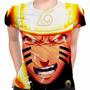 Camiseta Baby Look Naruto Shippuuden E Sasuke Mangá