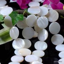 Discos De Madreperolas Brancas De 20mm Cada