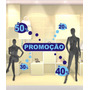 Adesivo Para Vitrine De Lojas: Promoção Kit C/ 02 Cores