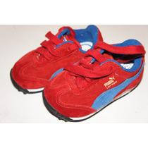 Tenis Infantil Puma Tamanho 17 Vermelho E Azul Lindo Lindo