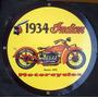 Placas Decorativas Moto Indian Antiga 1934 Vintage Clássica