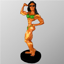 Mulher Fisiculturista - Pequena - Estatueta