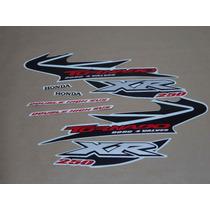 Kit Adesivos Honda Xr 250 Tornado 2004 Branca - Decalx